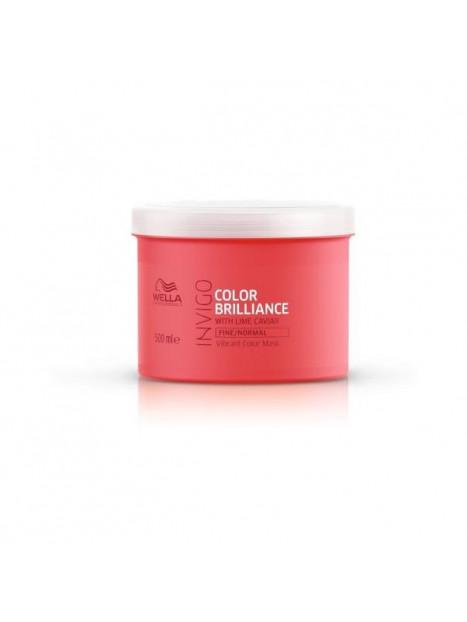 Masque couleur cheveux fins et normaux Invigo BRILLANCE WELLA 500 ML