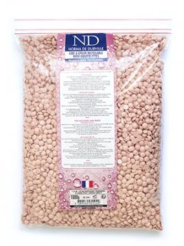 Cire rose en sachet de perles Norma de Durville 1 kg
