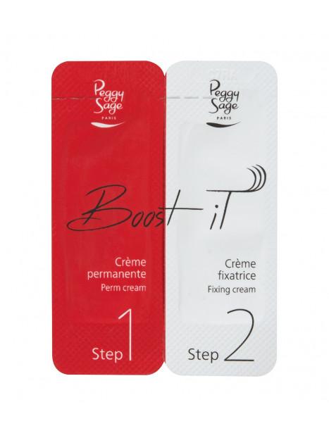 Set de 10 paires uni-doses de crèmes permanente et fixatrice Peggy Sage