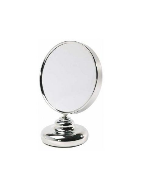 Miroir double face diamètre 20 cm sur pied face grossissante x5 Zingus