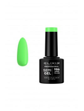 Vernis semi-permanent 986 Green Yellow ELIXIR 8ML